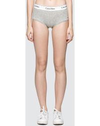 Calvin Klein - Cotton Knitted Knickers - Lyst