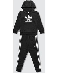 adidas Originals Trefoil Hoodie And Trousers Set - Black