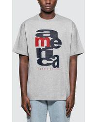 Perry Ellis - Logo Print Cotton T Shirt - Lyst