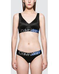 8a1c436e03 Lyst - Calvin Klein Qf1537 Iron Strength Micro Bralette in Black