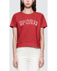 Mother - Raw Sleeve Square S/s T-shirt - Lyst