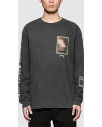 Stussy - Inferno Pig. Dyed L/s T-shirt - Lyst