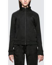 Alexander Wang - Sleek French Terry Full-zip Shrunken Track Jacket - Lyst