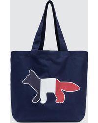 Maison Kitsuné - Tricolor Fox Tote Bag - Lyst