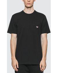 Maison Kitsuné Fox Patch Cotton Jersey T Shirt - Black