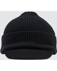 5878ed8e06d Prada Rib Knit Wool Hat in Black for Men - Lyst