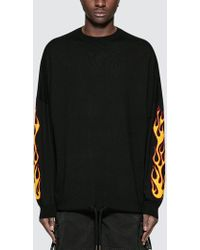 Palm Angels | Palms And Flames Jumper | Lyst