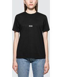 MSGM - Micro Logo Short Sleeve T-shirt - Lyst