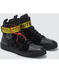 Off-White c/o Virgil Abloh - Off-white Black Industrial Hi Top Sneakers - Lyst