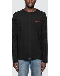 Helmut Lang - Cut Neck L/s T-shirt - Lyst