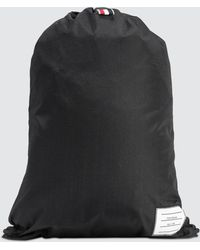 Thom Browne | Nylon Plain Weave Drawcord Bag | Lyst