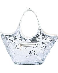 2836ab61362b Uzurii - Silver Glamour Sequin Oversized Shoulder Bag - Lyst