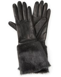Henri Bendel - Blake Faux Fur Leather Gloves - Lyst
