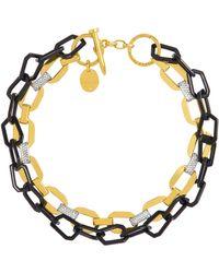 Henri Bendel - Lenox Pave Link Necklace - Lyst