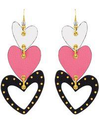 Henri Bendel - Leather Heart Earring - Lyst