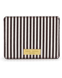 Henri Bendel - Centennial Stripe Card Case - Lyst