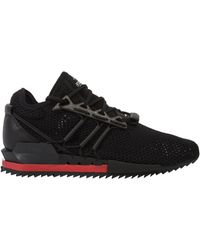 1ce6d81b8 Y-3 - Harigane Primeknit Trainers Black chilli Red - Lyst