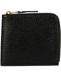 Comme des Garçons - Sa3100ic Textured Leather Wallet Black - Lyst