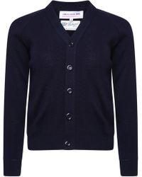 Comme des Garçons - Classic Knit V Neck Cardigan Navy - Lyst
