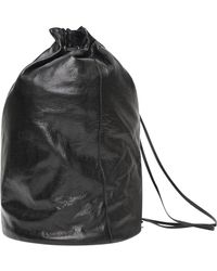 Yohji Yamamoto Draped Backpack in Black - Lyst 96b15d7afc
