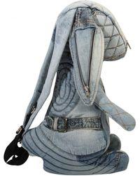 Vinti Andrews | Reworked Denim Rabbit Backpack Light Blue | Lyst