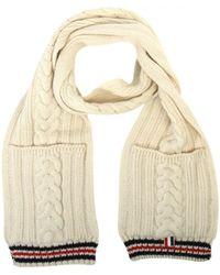 Thom Browne - Aran Cable Knit Pocket Scarf Off - Lyst