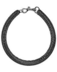 Atelier Swarovski - Bolster Necklace Jet Hematite - Lyst