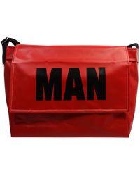 Comme des Garçons - Block Logo Coated Messenger Bag Red - Lyst