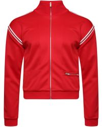 Maison Margiela - Stripe Trim Track Jacket Red - Lyst