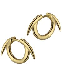 Shaun Leane | Silver Thorn Hoop Earrings Gold | Lyst