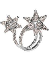 Atelier Swarovski - Kalix Double Ring Silver - Lyst