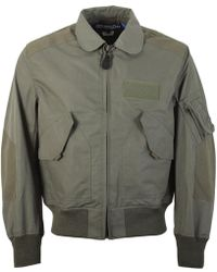 Junya Watanabe - Bomber Jacket With Patch Design - Lyst
