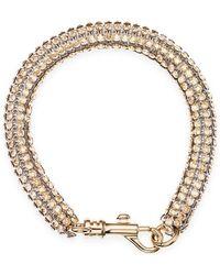 Atelier Swarovski - Slim Single Bolster Bracelet Gold - Lyst