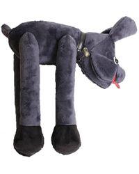 Jeremy Scott - Toy Fur Dog Shoulder Bag Purple - Lyst