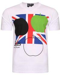 Comme des Garçons - The Beatles Union Jack Apple Corps T-shirt White - Lyst