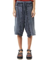 Lost & Found | Vented Linen Shorts | Lyst