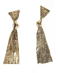 Mirit Weinstock - Gold-plated Bowed Earrings - Lyst