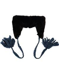 Undercover - Shearling Headband Cap - Lyst