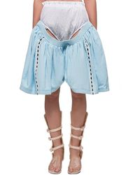 Jenny Fax Deconstructed Shorts - Blue