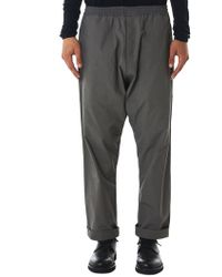 Jan Jan Van Essche - Woven Cotton Trousers - Lyst
