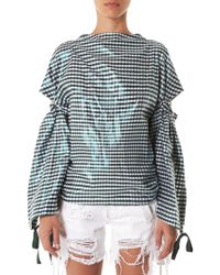 Toga - Open-back Cotton-blend Top - Lyst