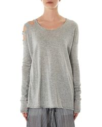 Lost & Found - Slashed Sweater - Lyst