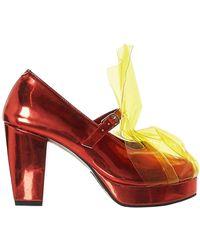 Jenny Fax Vinyl Shield Heel - Red