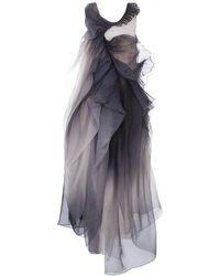 Yiqing Yin - Ruffled Silk Embellished Dress - Lyst