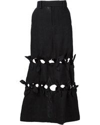 Facetasm - Cut-out Maxi Skirt - Lyst