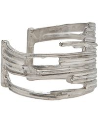 1-100 | Sterling Silver Large Cut Out Cuff | Lyst