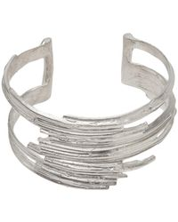 1-100 - Sterling Silver Layered Cuff - Lyst
