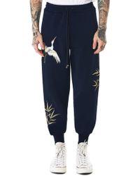 Angel Chen - Crane Embroidered Sweatpants - Lyst