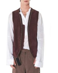 Di Liborio - Crochet Leather Gilet - Lyst