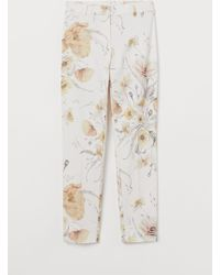 H&M Patterned Cigarette Trousers